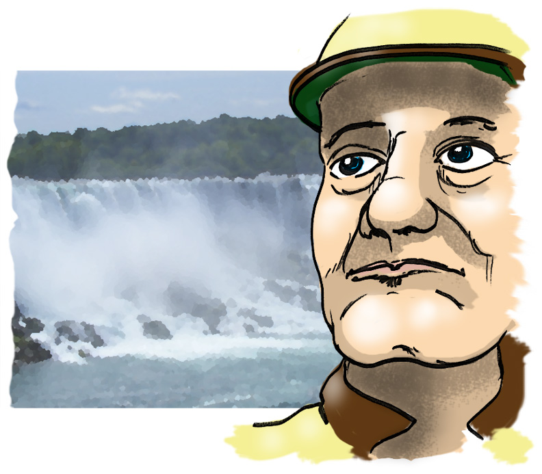 back, back, over the falls